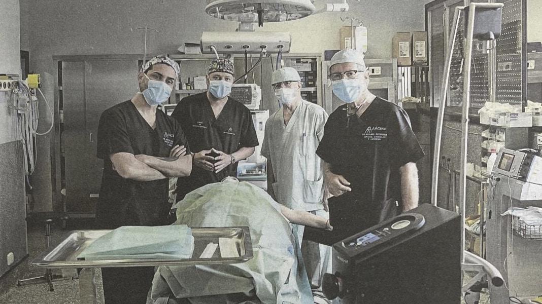 Dr Hurtado y Dr Acuña recibiedo formación en Lipedema del Dr Offermann